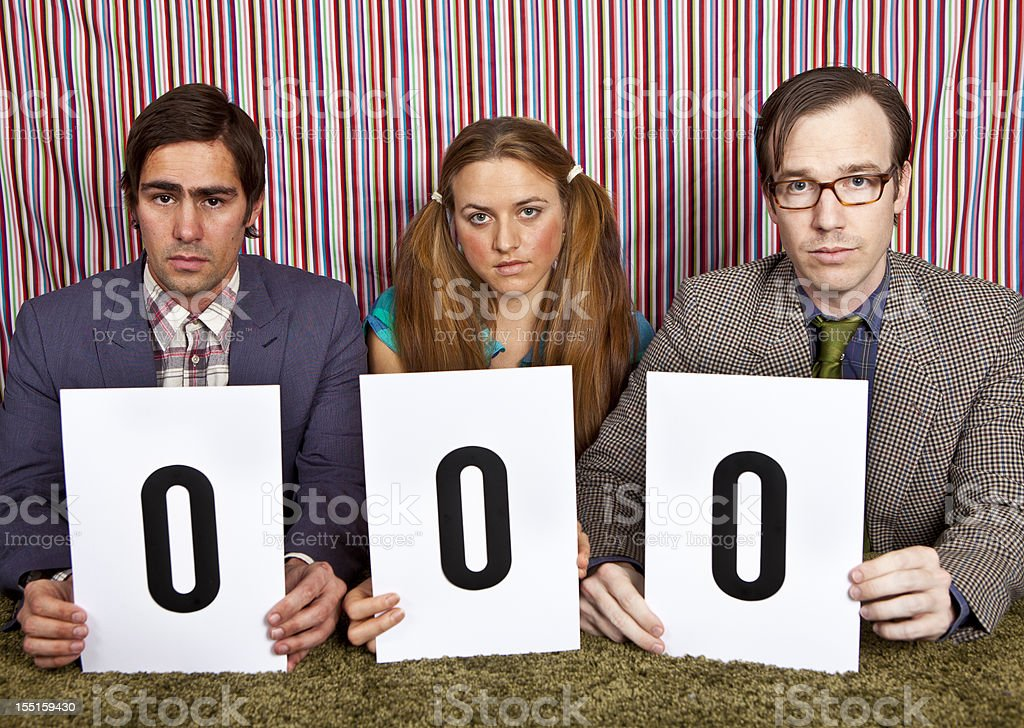 Panel of Judges royalty-free stock photo