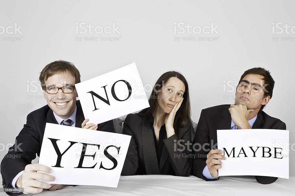 Panel of Judges with Different opinions royalty-free stock photo
