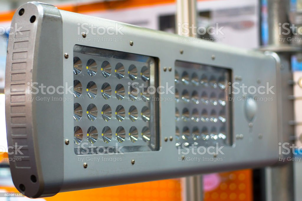 LED panel stock photo