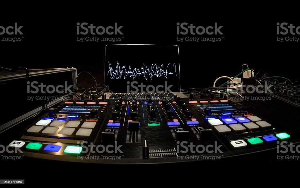 DJ Panel setup stock photo