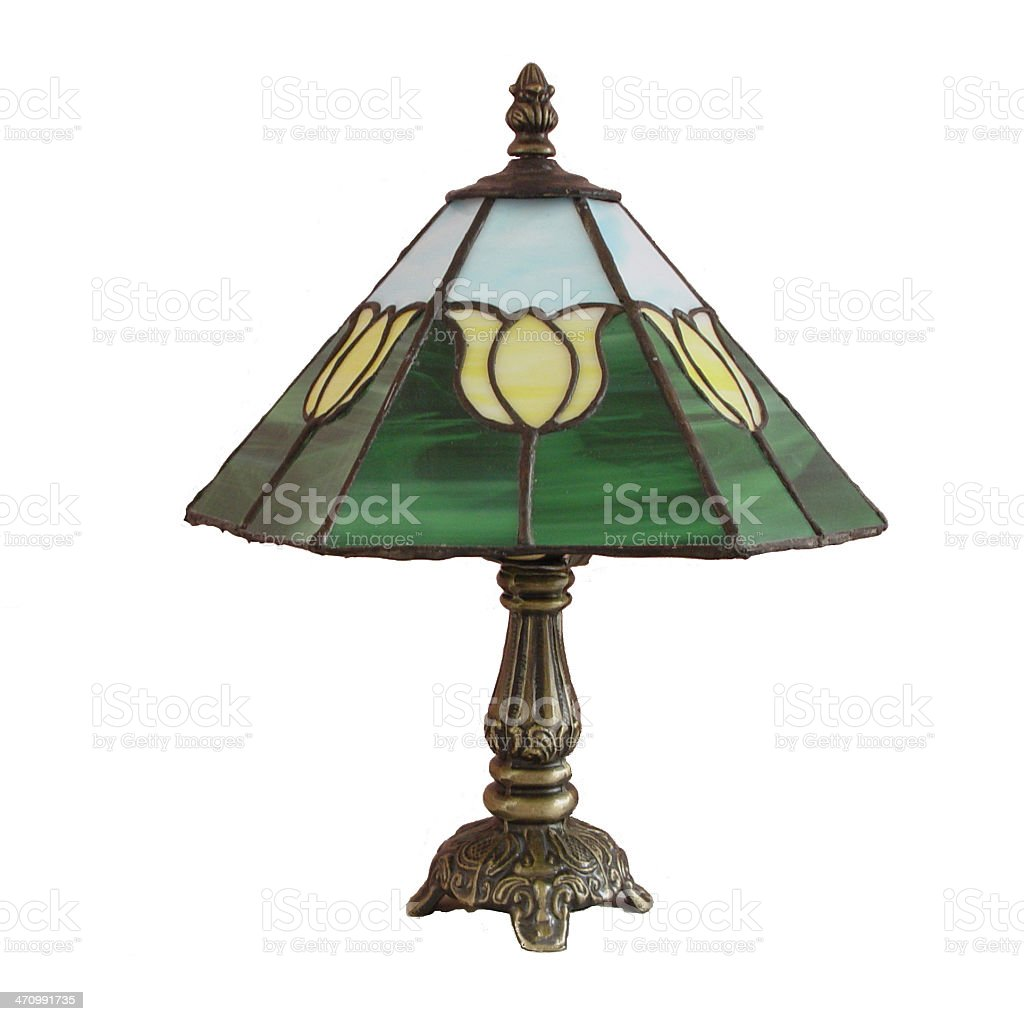 Panel Stained Glass Lamp stock photo