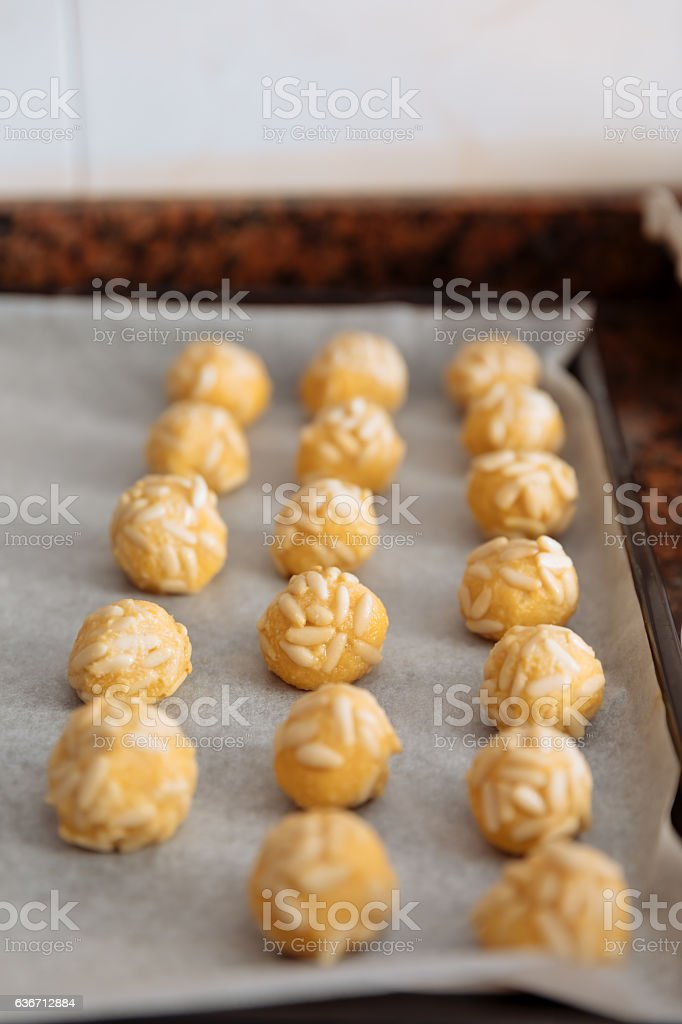 Panellets stock photo