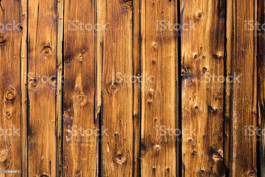 Panels on the exterior wall of a house. stock photo