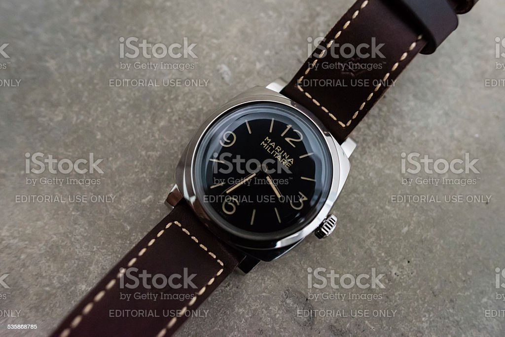 Panerai PAM587 Radiomir 1940 Marina Militare stock photo