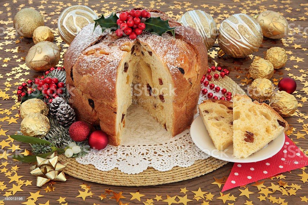 Panettone Cake stock photo