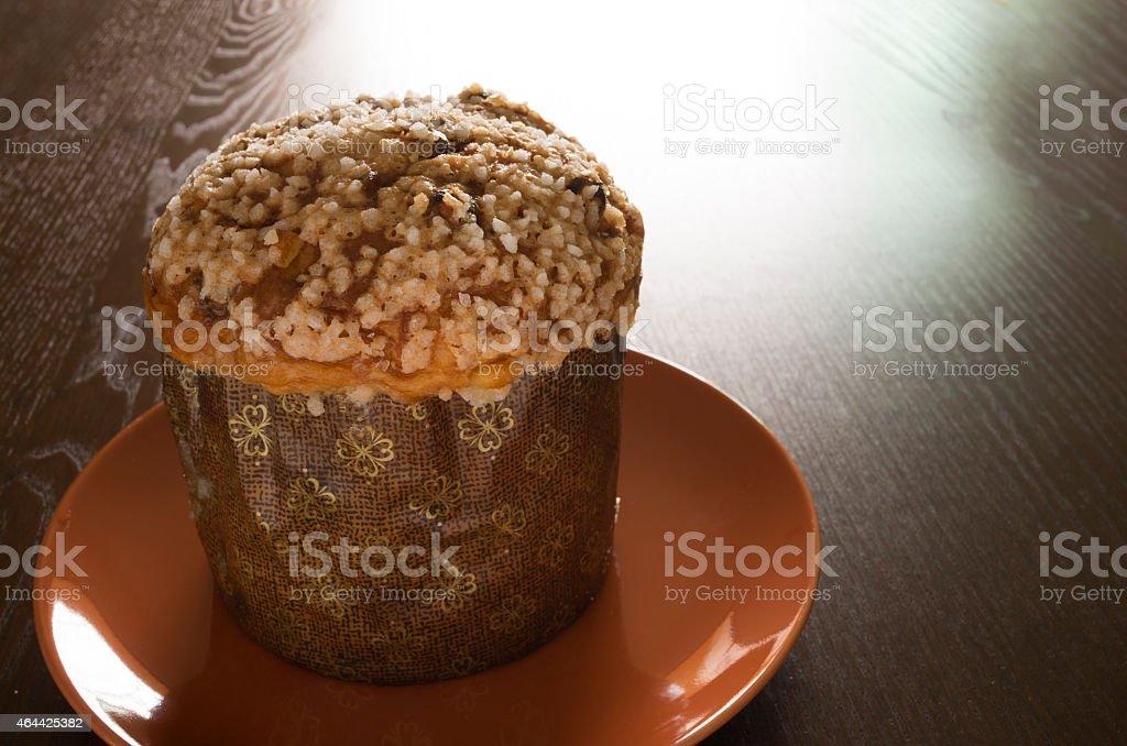 Panettone, Christmas Cake, Muffin stock photo