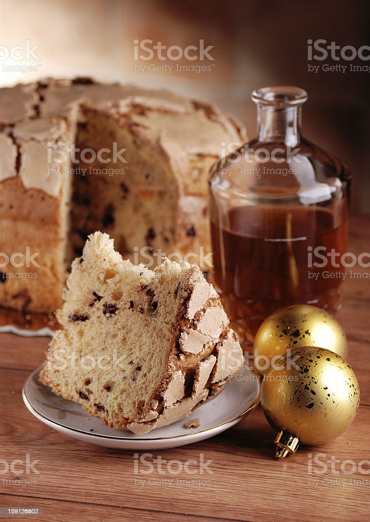 panettone, food craft royalty-free stock photo