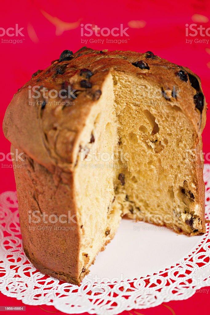 Panettone Holiday Bread stock photo
