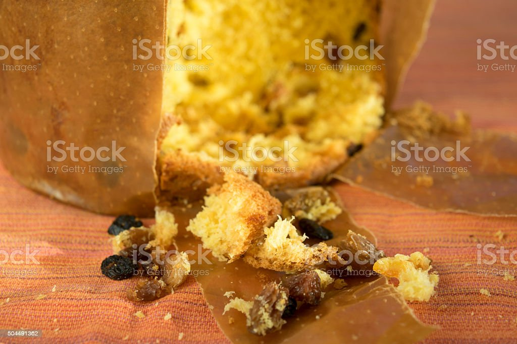 panettone of Milan with candied fruit stock photo