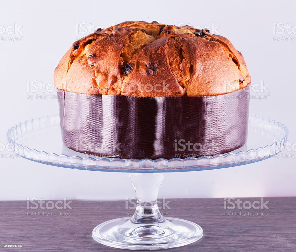 Panettone over stand stock photo
