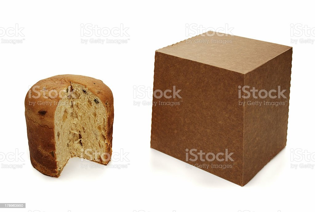 Panettone package royalty-free stock photo
