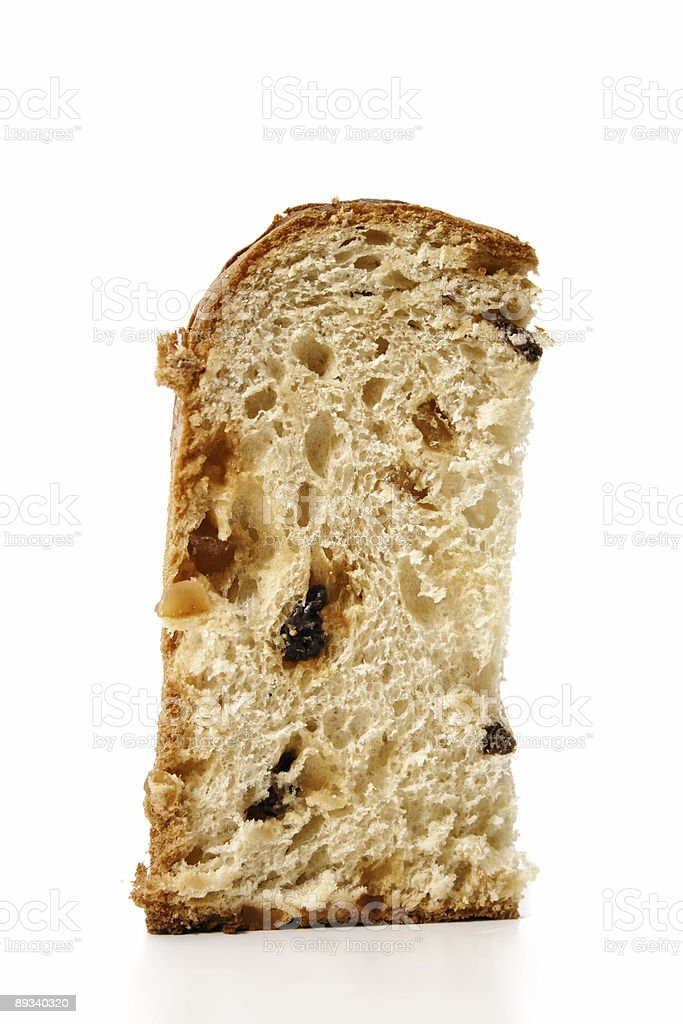 Panettone single slice royalty-free stock photo