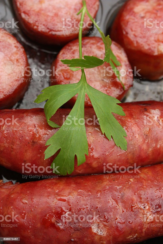 Saucisse Poêlée - Charcuterie stock photo