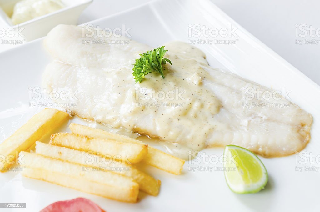 Pangasius steak stock photo