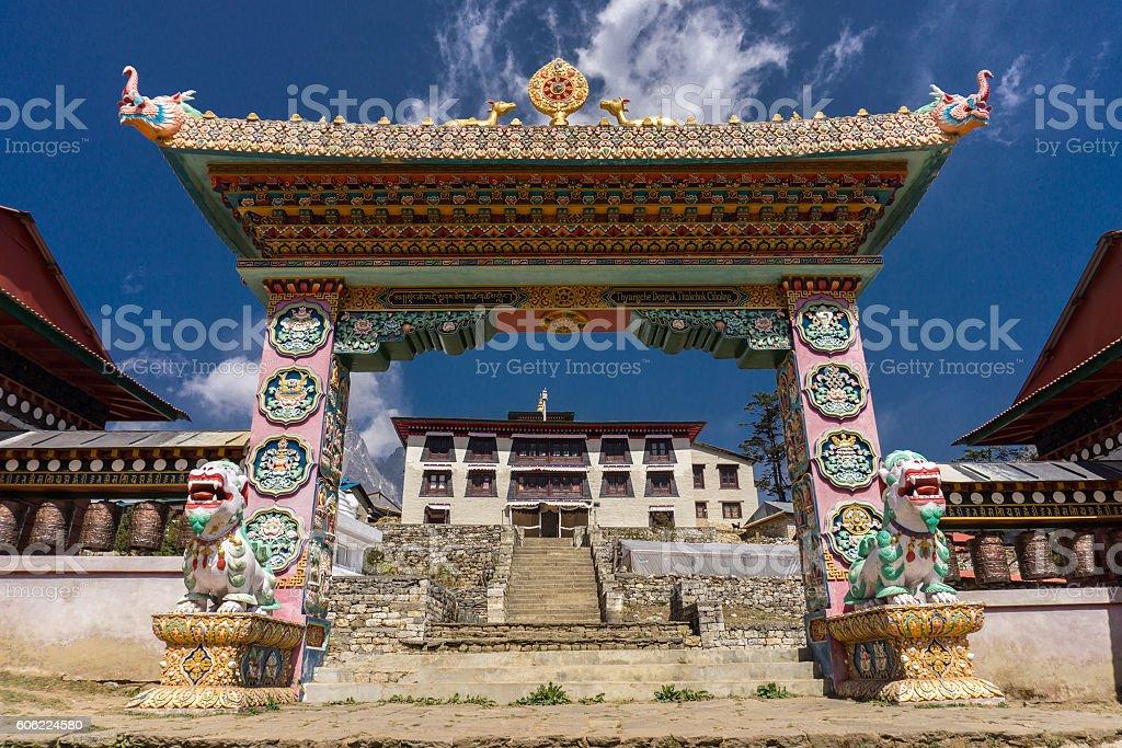 Pangboche to Namche Bazaar, Nepal stock photo