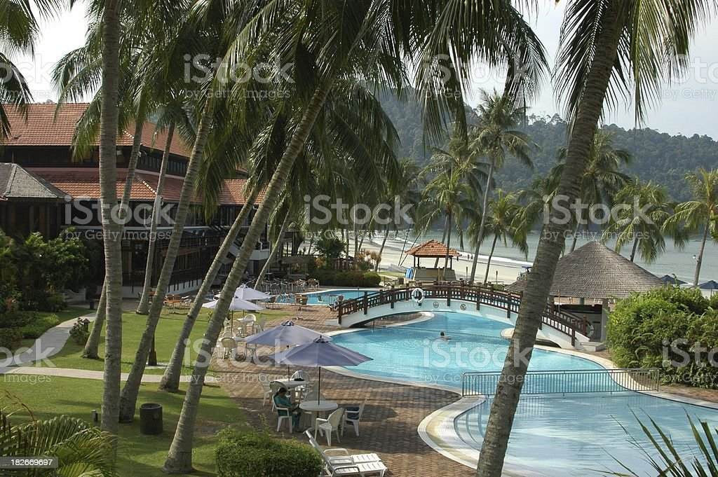 Pangkor Island Beach Resort royalty-free stock photo