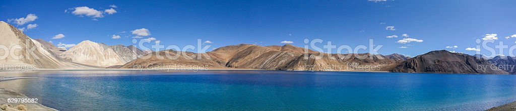 Pangong Lake in Ladakh stock photo