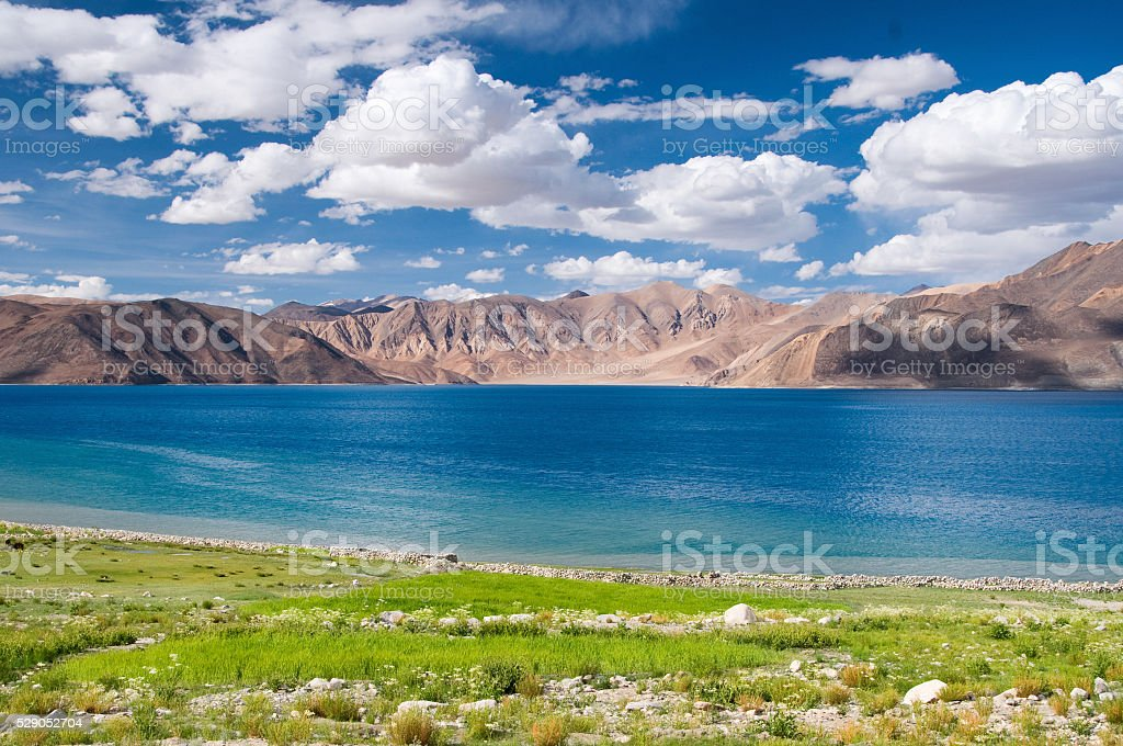 Pangong lake, Leh, Ladakh, Jammu and Kashmir, India stock photo