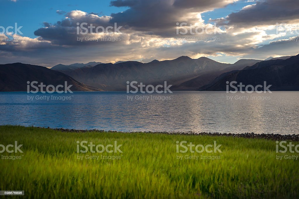 Pangong Lake stock photo