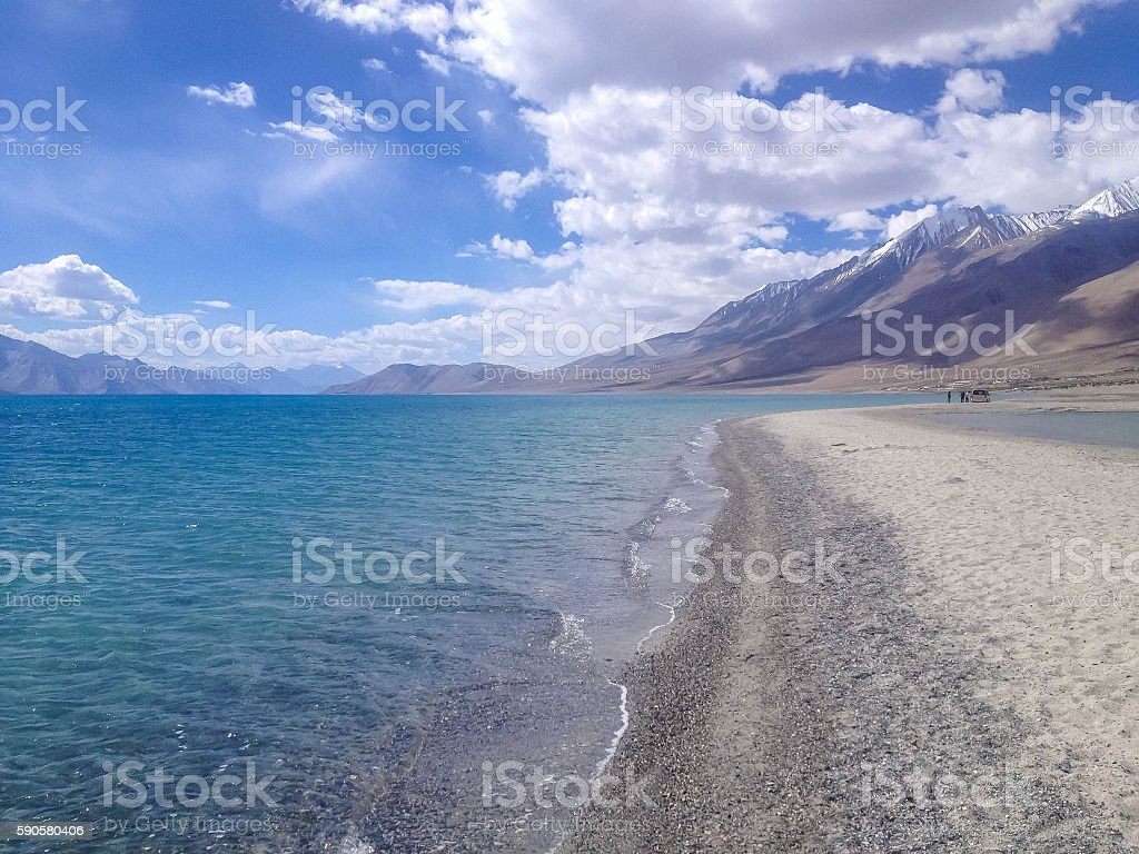 Pangong tso (Lake) in Ladakh, Leh, India stock photo