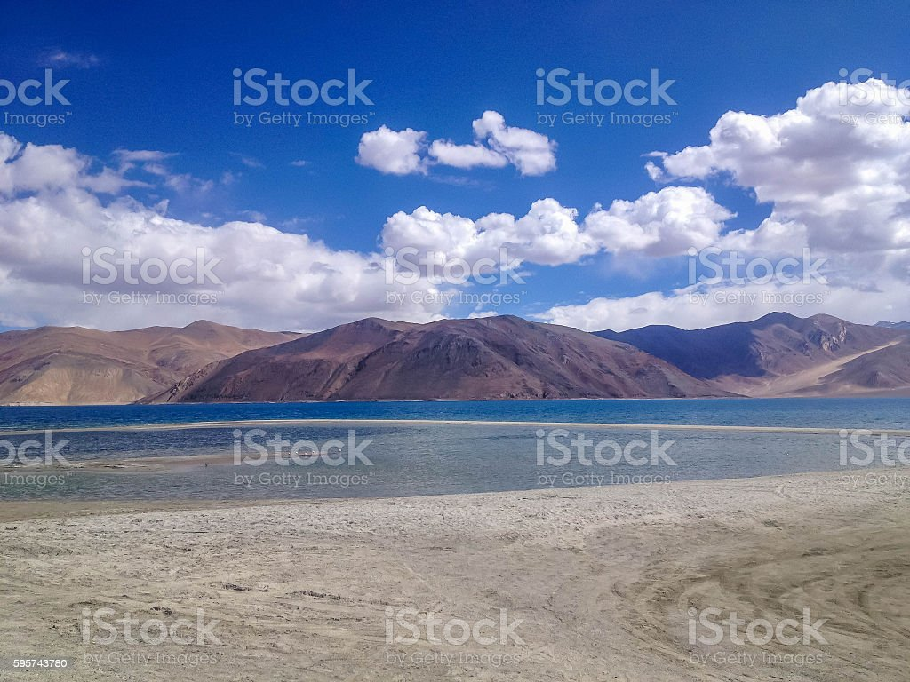 Pangong tso (Lake), Leh, Ladakh, India stock photo