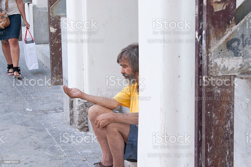 Panhandler royalty-free stock photo