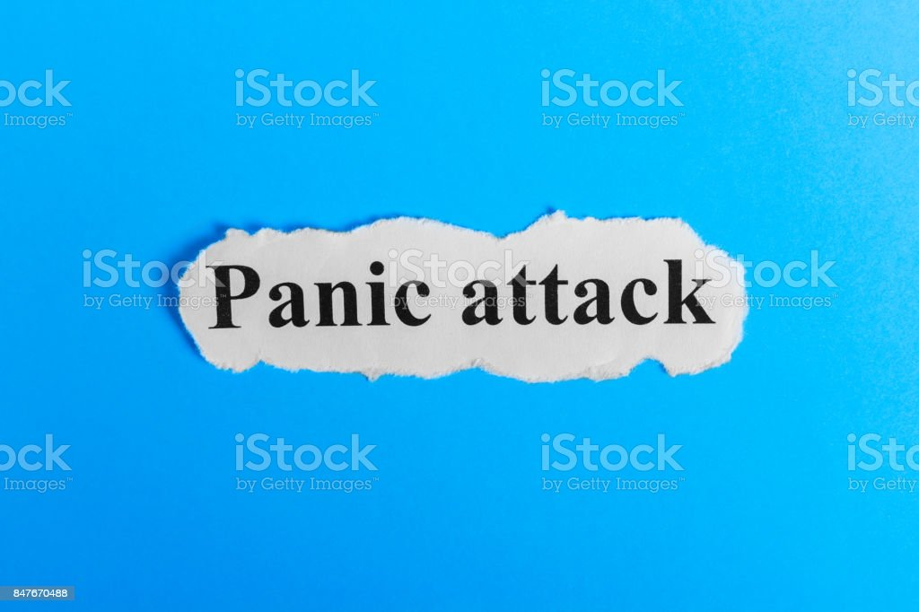 Panic Attack text on paper. Word Panic Attack on a piece of paper. Concept Image. Panic Attack Syndrome stock photo