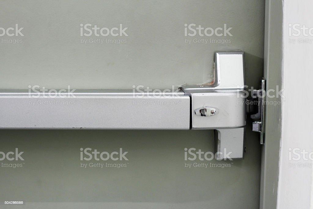 panic bar of door exit stock photo