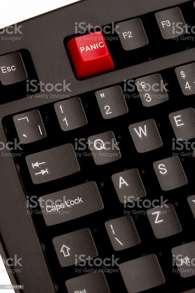 F1 Panic Button royalty-free stock photo