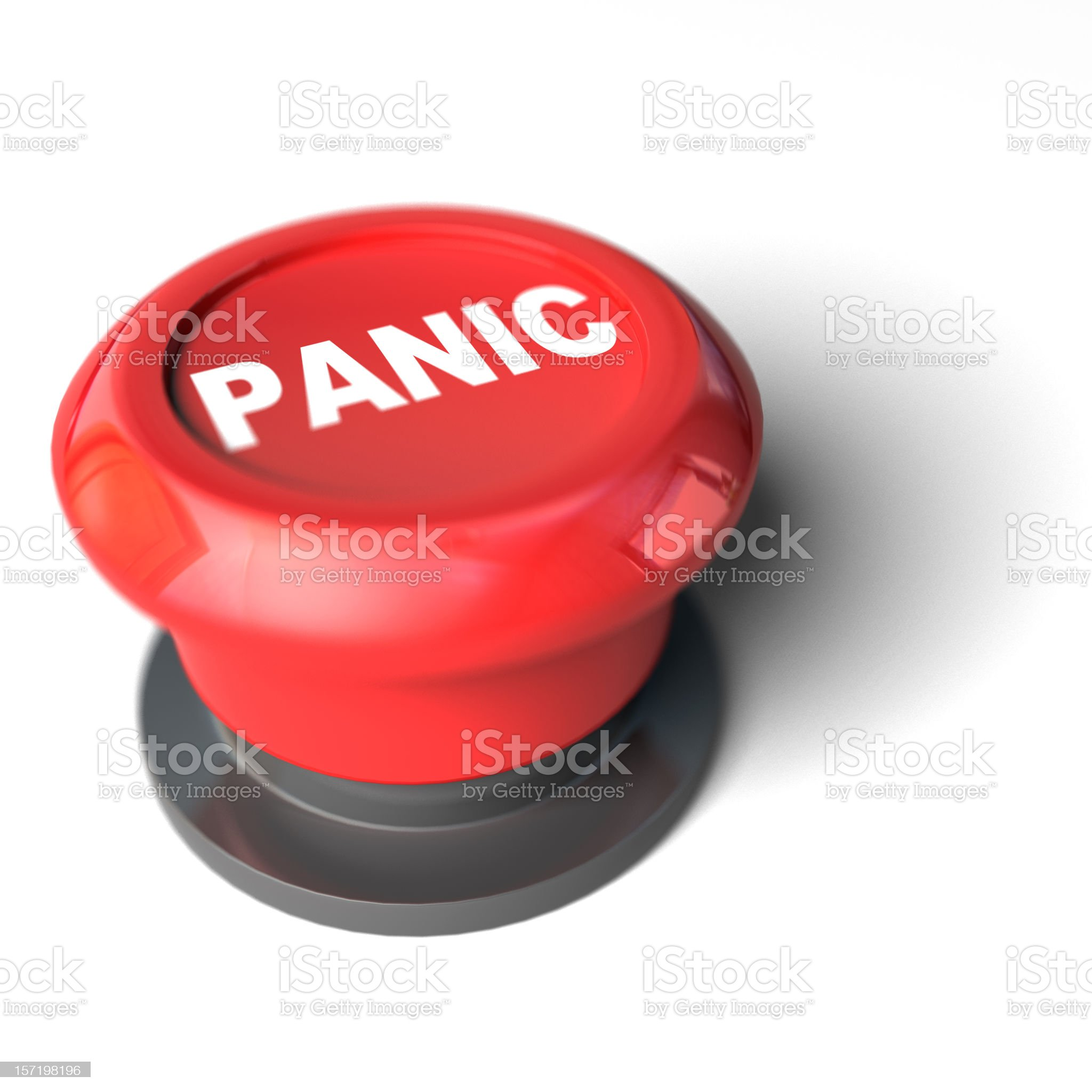Panic Button royalty-free stock photo
