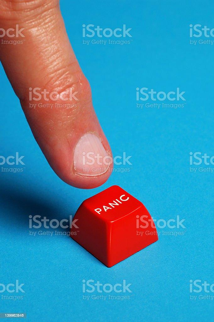 Panic Finger stock photo