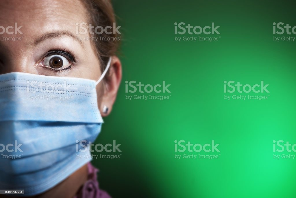Panic infection royalty-free stock photo