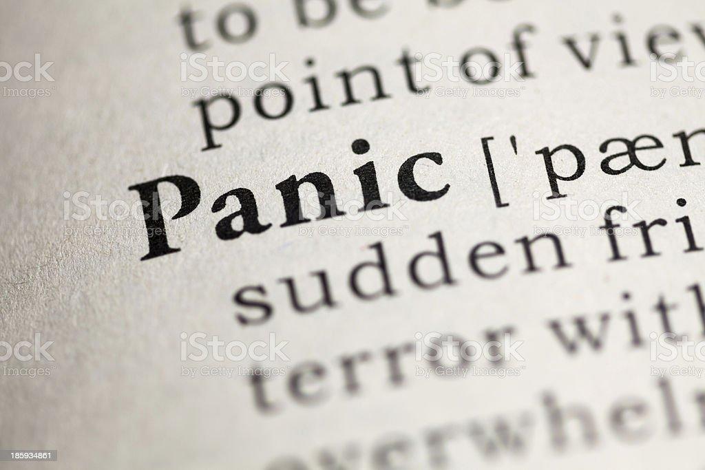 Panic royalty-free stock photo