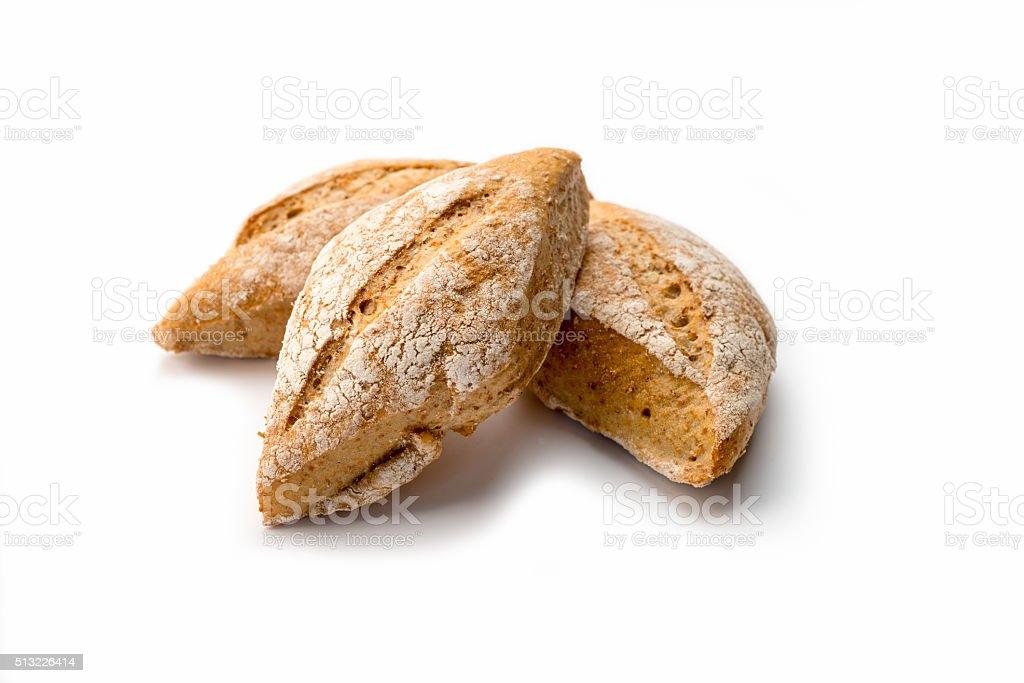 Panini, Artisan Bread Stills on white stock photo