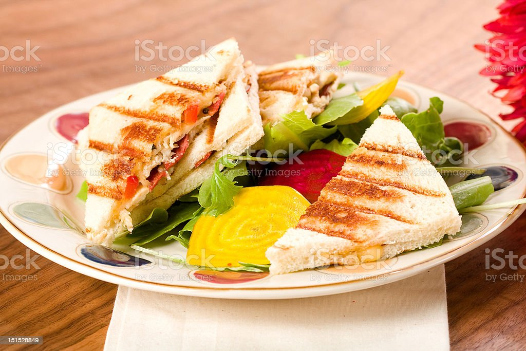 Panini with Salad royalty-free stock photo