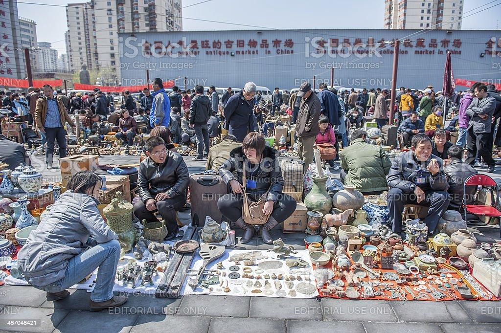Panjiayuan market royalty-free stock photo