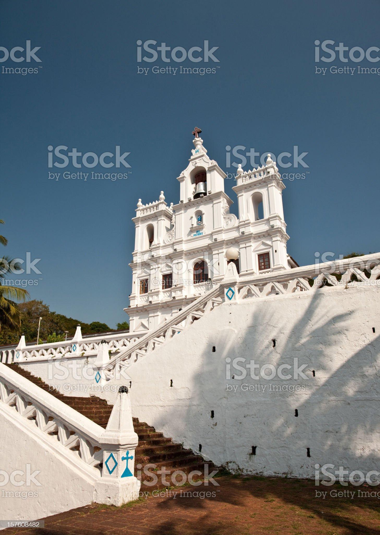 Panjim Church, Goa royalty-free stock photo