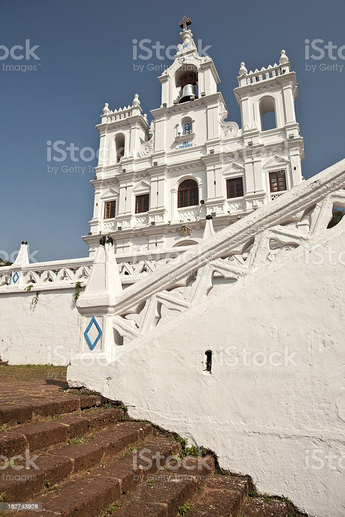 Panjim Church, Goa stock photo