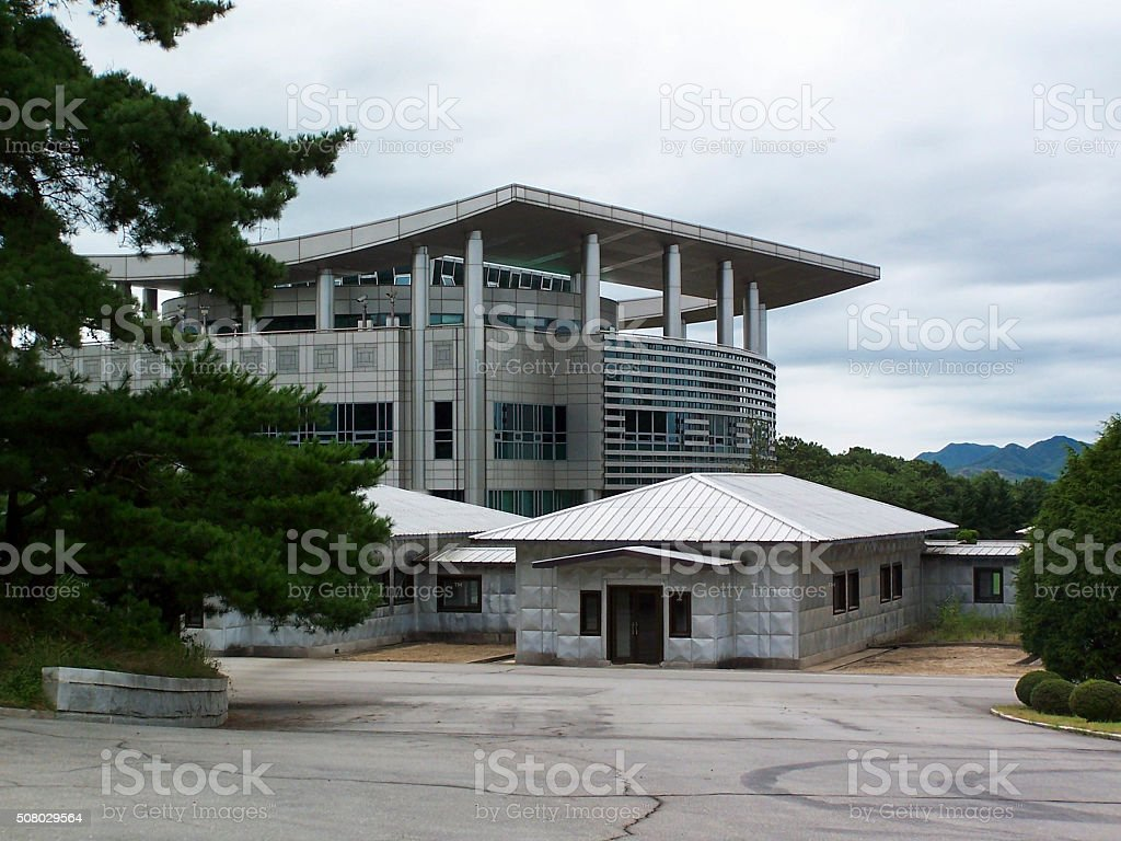 Panmunjom Buildings stock photo