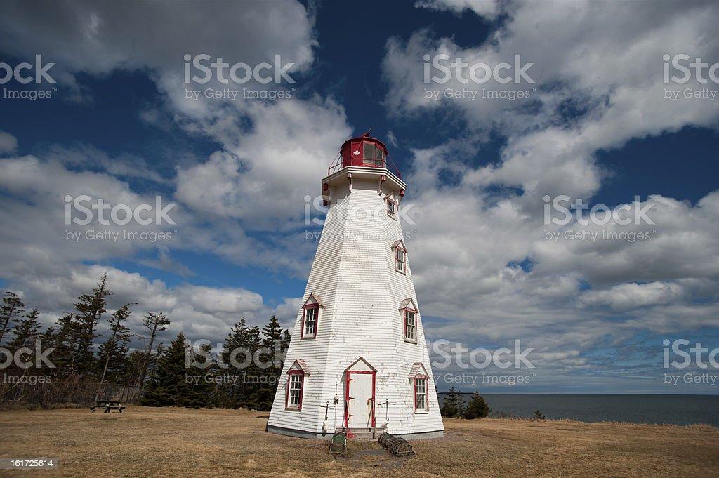 Panmure Island Lighthouse royalty-free stock photo