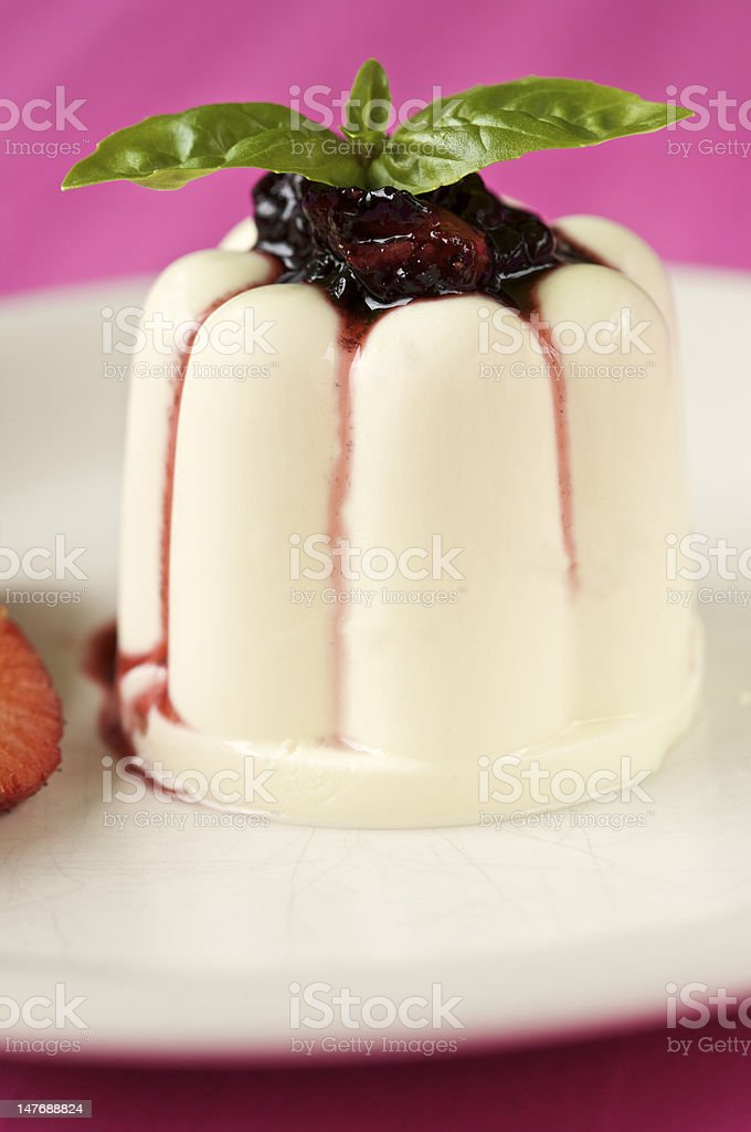 Panna cotta dessert royalty-free stock photo