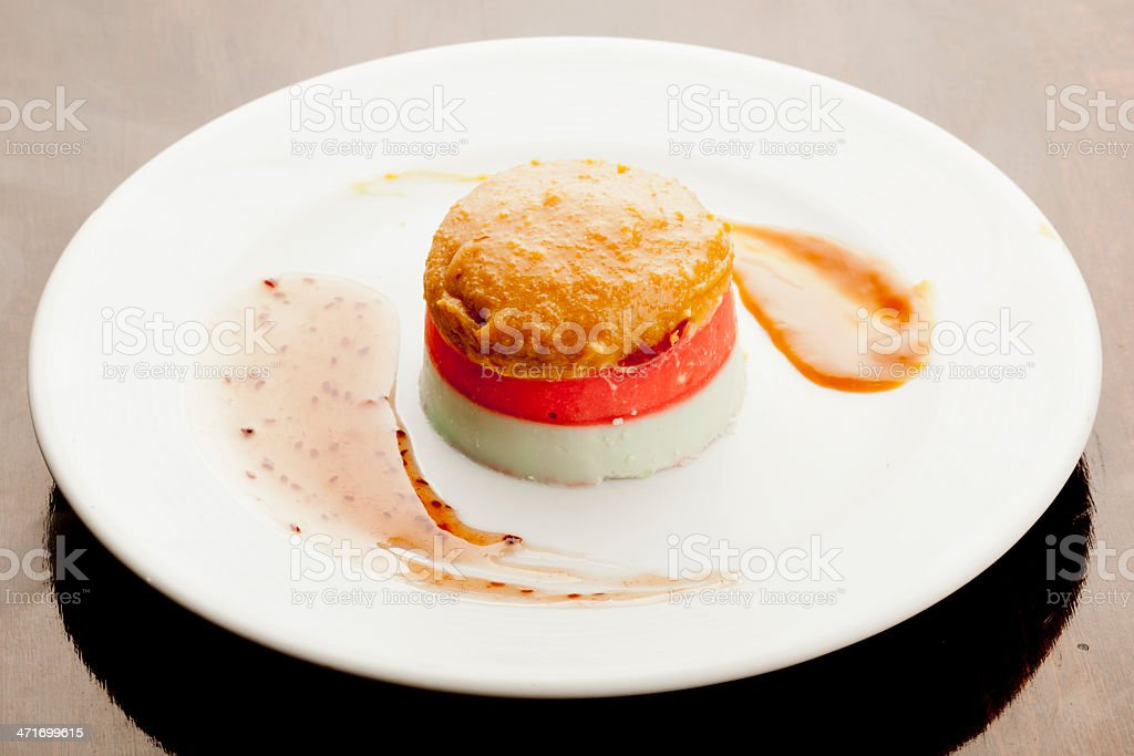 Panna cotta in two layer royalty-free stock photo