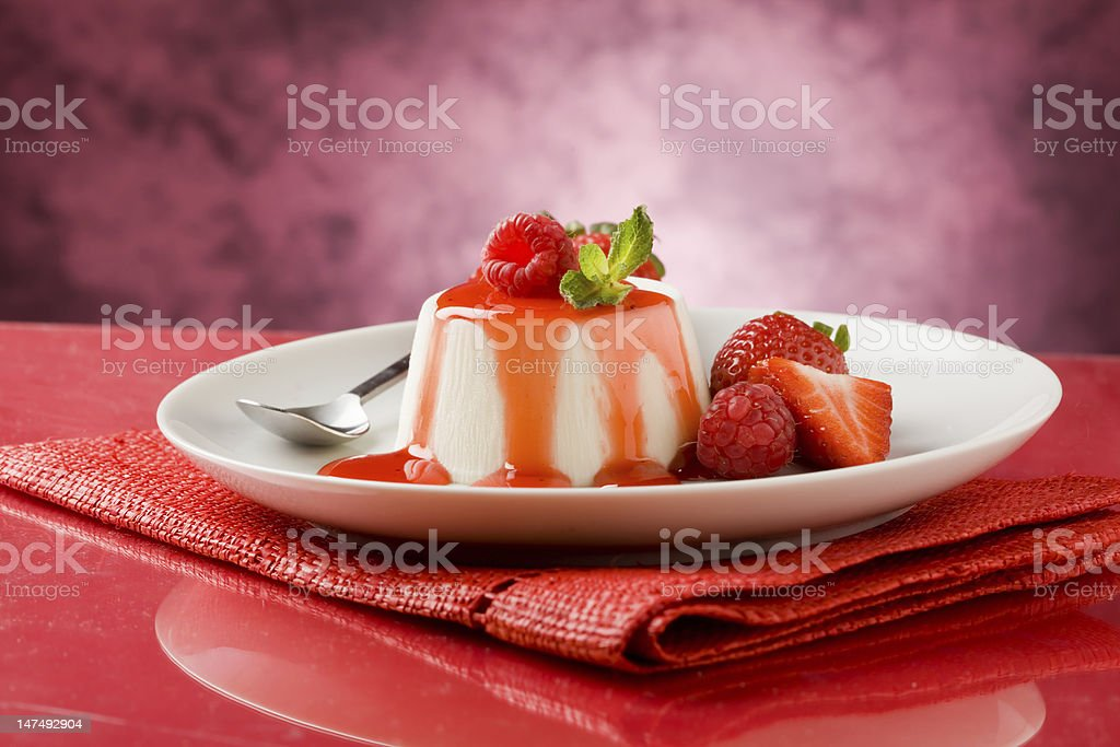 Panna Cotta royalty-free stock photo