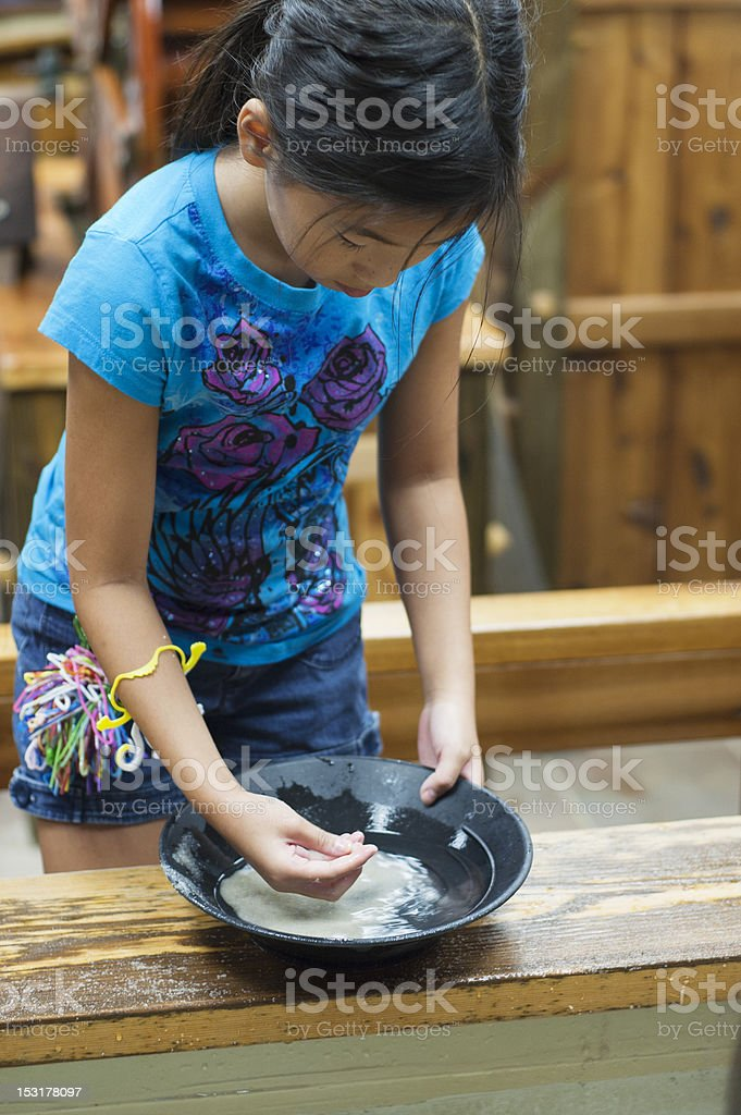 Panning for gems stock photo