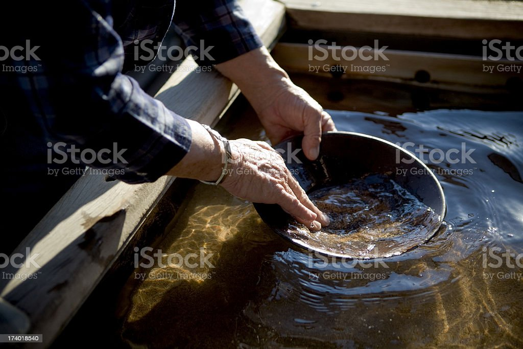 Panning for Gold royalty-free stock photo