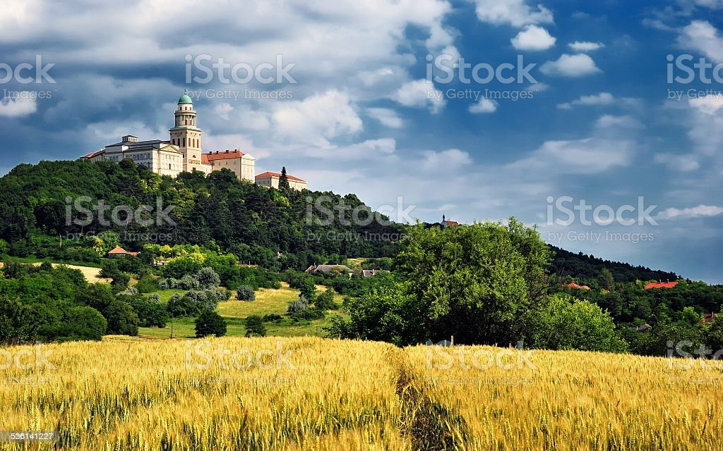 Pannonhalma Abbey, Hungary stock photo
