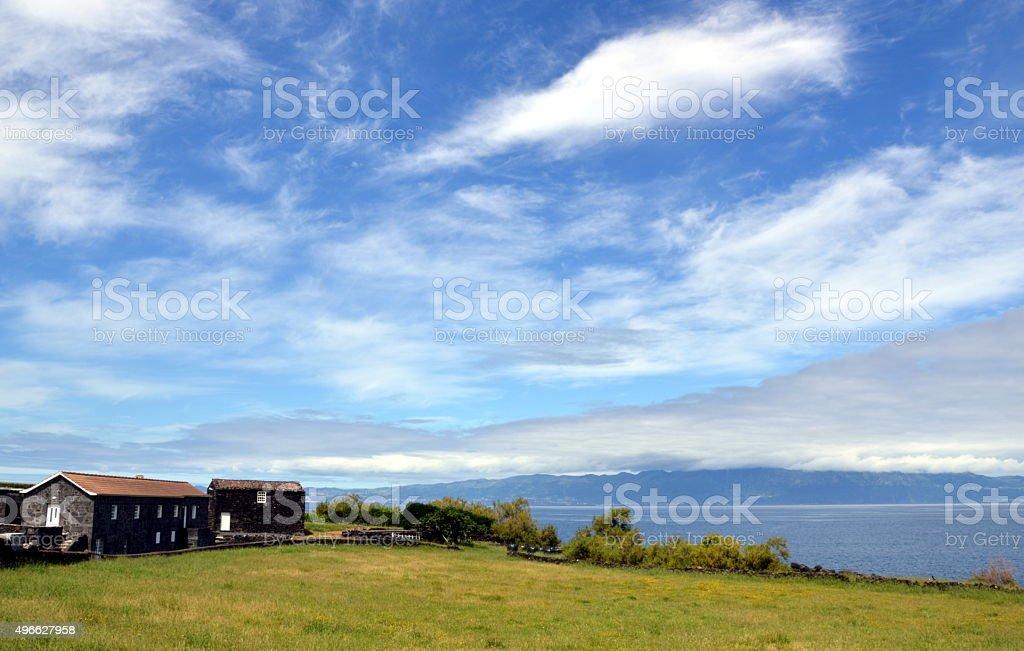 panorama azoriano stock photo
