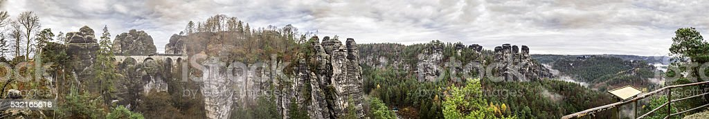 Panorama Bastei. stock photo