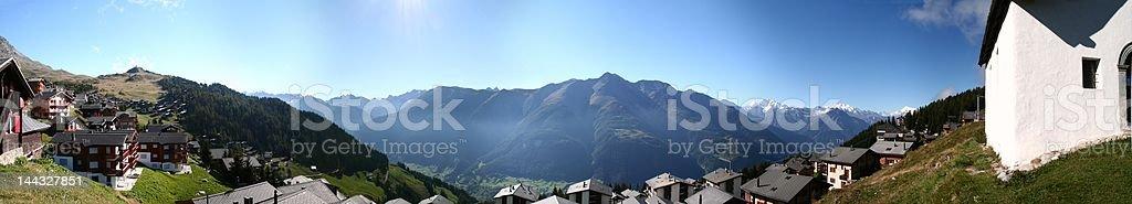 Panorama: Bettmeralp, Wallis Switzerland stock photo