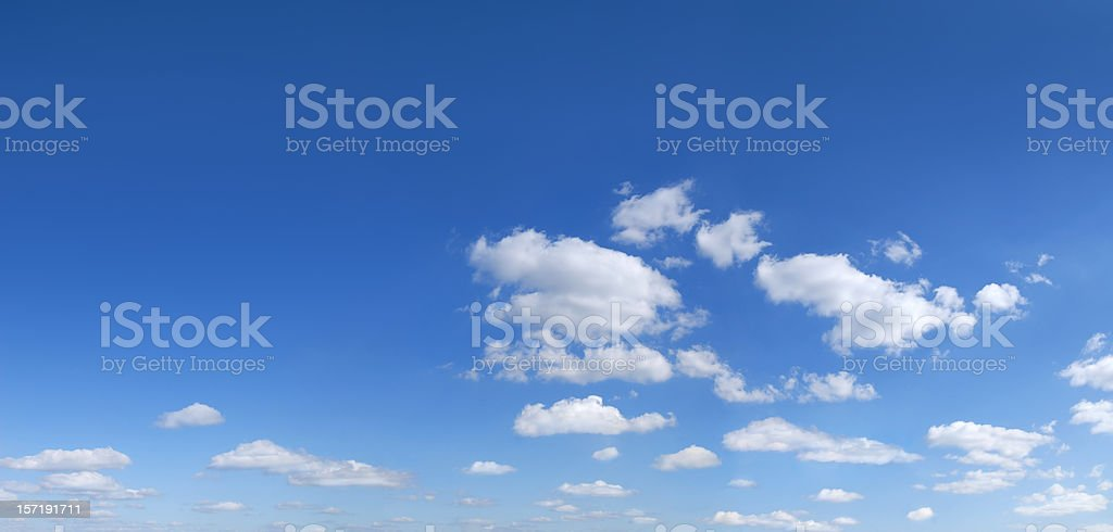 Panorama Blue sky and white clouds, SCROLL DOWN for more royalty-free stock photo